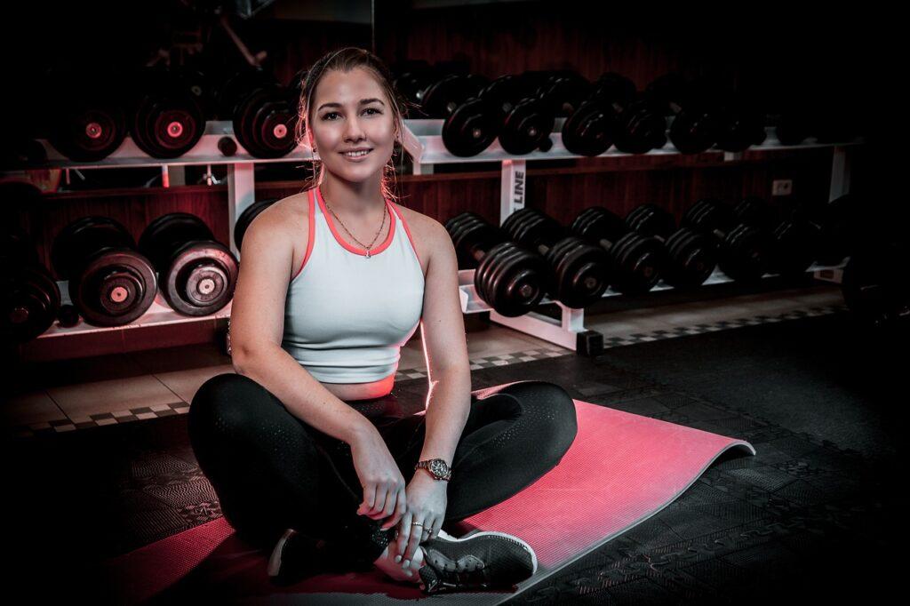 woman, fitness model, gym
